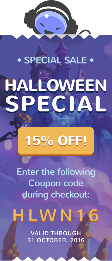 Halloween Sale 15% OFF any Music Loop!