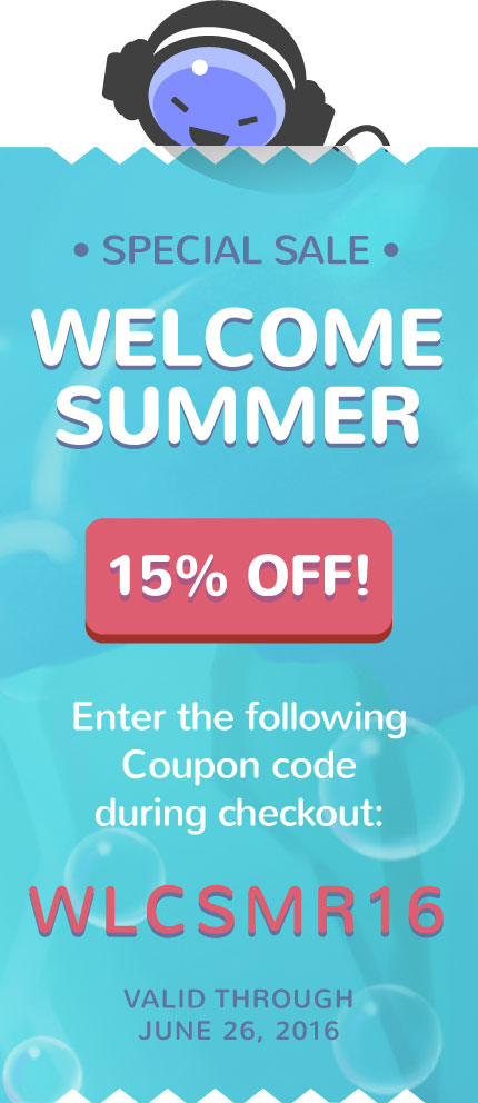 Summer Sale 15% OFF any Music Loop!