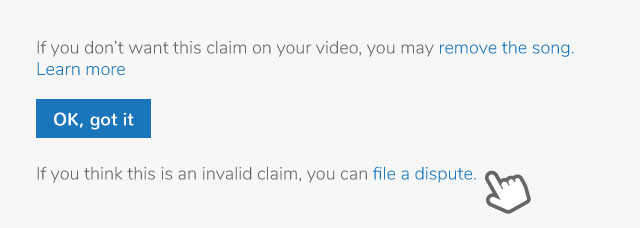YouTube Dispute Claim