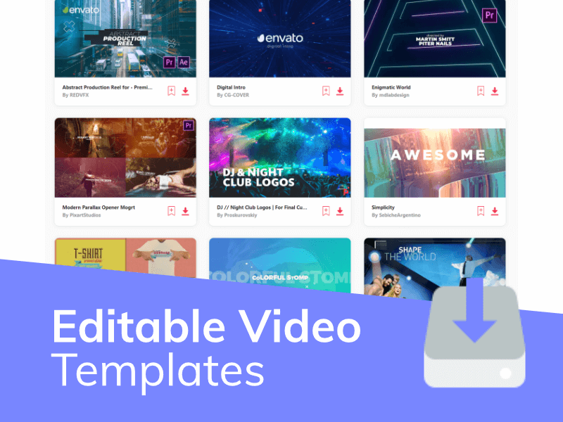 Editable Video Templates