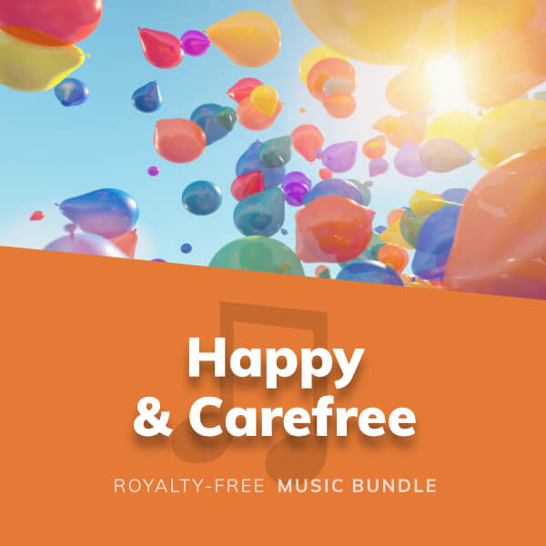Collection of happy, upbeat and light-hearted background music tracks for any kind of media